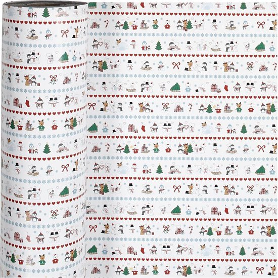 Gift Deco Inpakpapier Kerstmis 57 Cm X 150 M