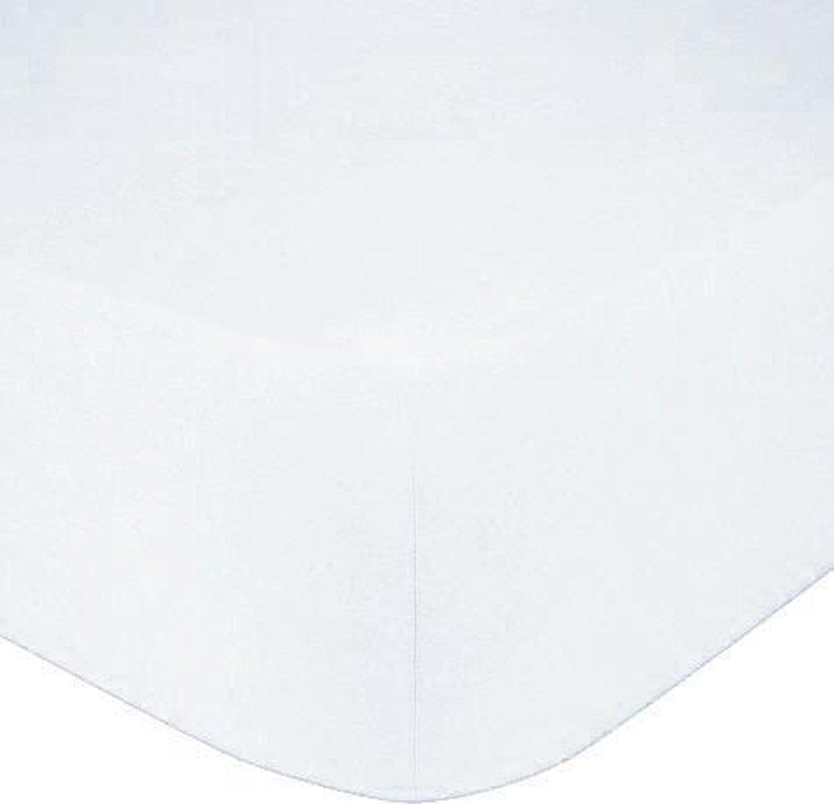 Het Ultieme Zachte Hoeslaken- Jersey -Stretch -100% Katoen-2Persoons-Lits-Jumeaux- 180x200x30cm-Wit
