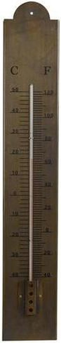 Vaderdag - Thermometer 'staal' 60x10x6,5cm