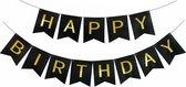 Letterslinger - Verjaardag Slinger - Happy Birthday - Zwart Goud
