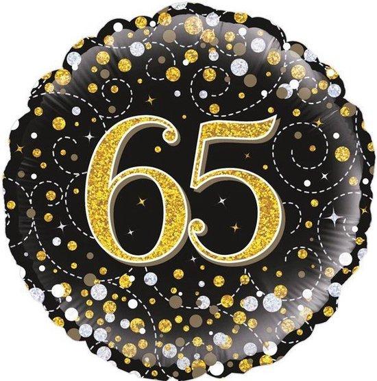 Folieballon - sparkling 65 - rond - leeg