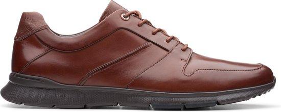 Clarks - Herenschoenen - Un Tynamo Flow - G - mahogany leather - maat 6,5