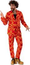 Jaren 80 & 90 Kostuum | Oranje Jaren 70 Hippie Disco 60s Sam Show | Man | Medium | Carnaval kostuum | Verkleedkleding