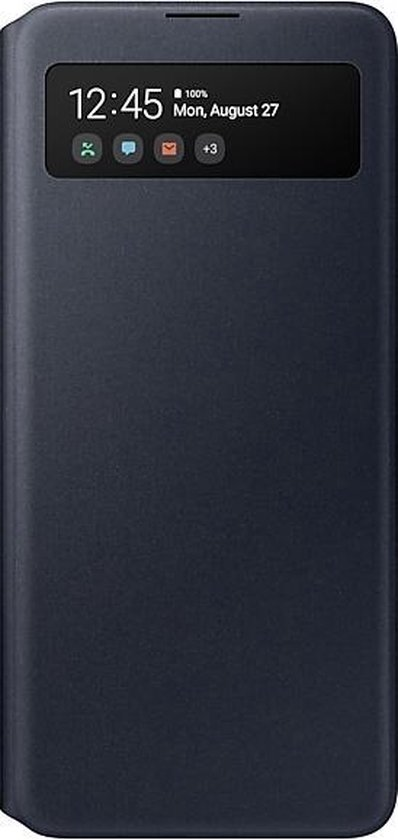 Samsung S View Wallet Cover - Samsung A51 - Zwart
