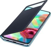 Samsung S View Wallet Cover - Samsung A71 - Zwart