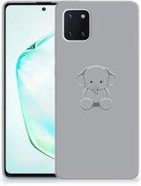 Samsung Galaxy Note 10 Lite Telefoonhoesje met Naam Grijs Baby Olifant