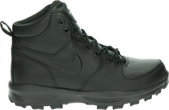Nike Manoa Leather Heren Sneakers - Black/Black-Black - Maat 42