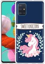 Samsung Galaxy A51 Hoesje Sweet Unicorn