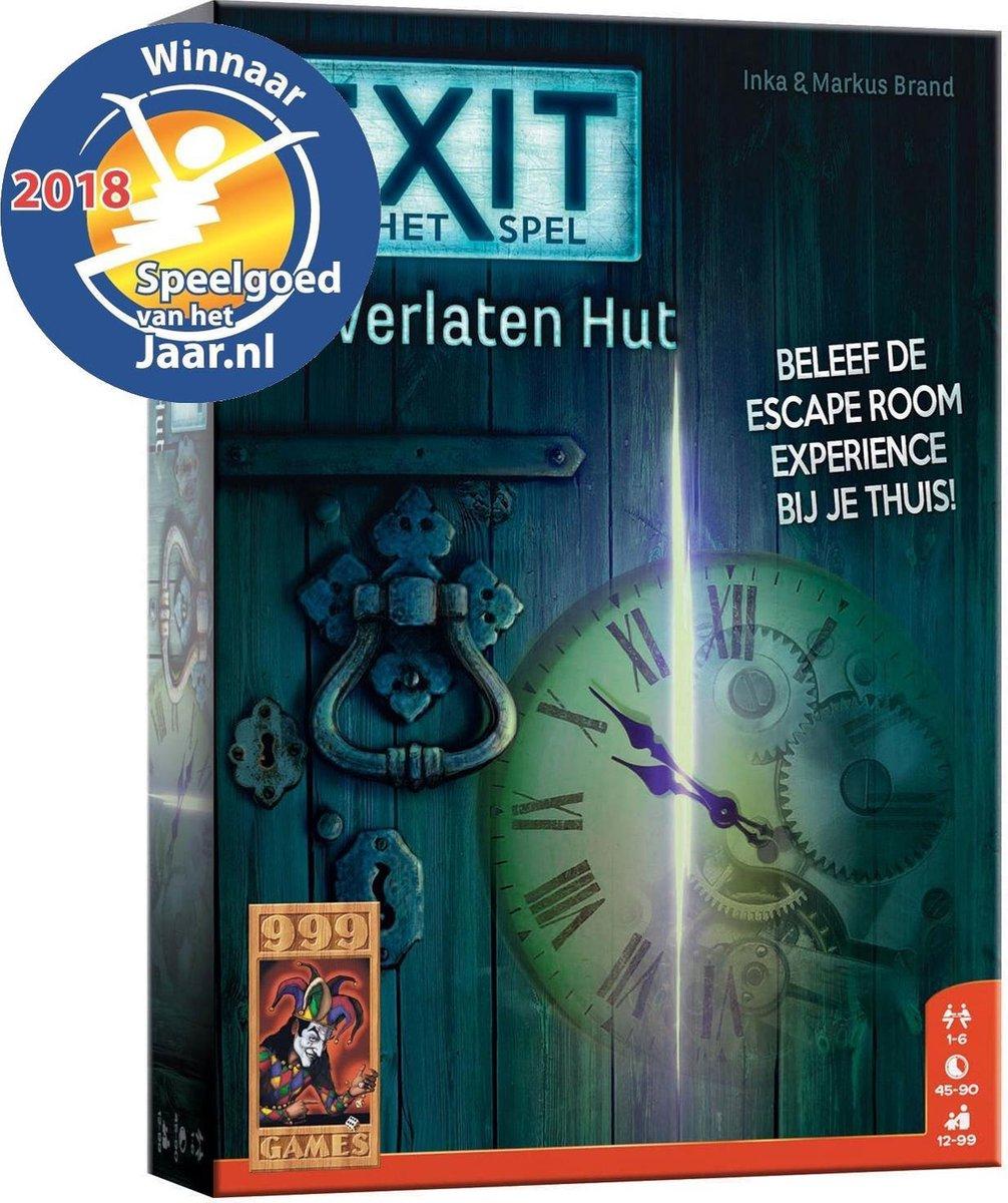EXIT De Verlaten Hut - Escape Room - Bordspel - 999 Games
