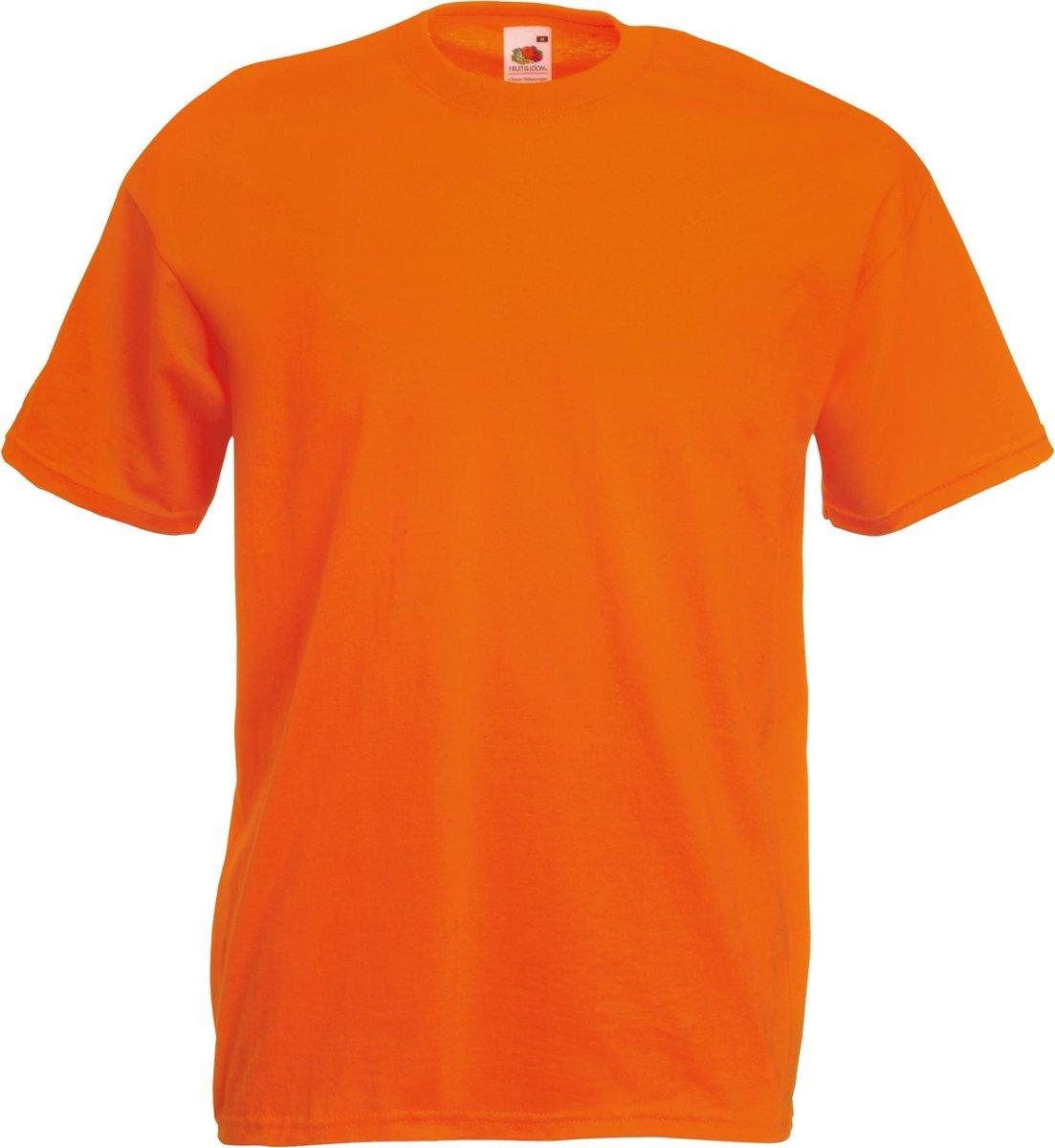 Fruit Of The Loom Heren Valueweight T-shirt met korte mouwen (Oranje) Maat XXXL (3XL) - EK-WK-Olympi