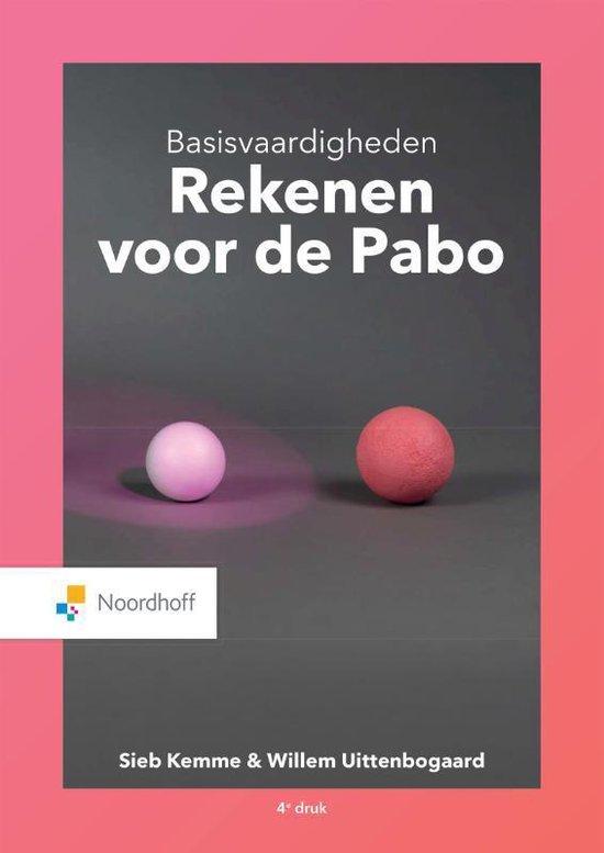 Boek cover Basisvaardigheden Rekenen voor de Pabo van Sieb Kemme (Paperback)