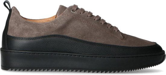 Sacha - Heren - Grijze leren sneakers - Maat 40