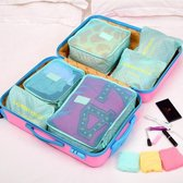 Koffer Organizer – Set van 6 – Travelsky packing cubes set – Inpak zakken – Travel bag 6 delig - Groen
