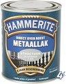 Hammerite Metaallak Structuur Zilver Grijs 0,75L