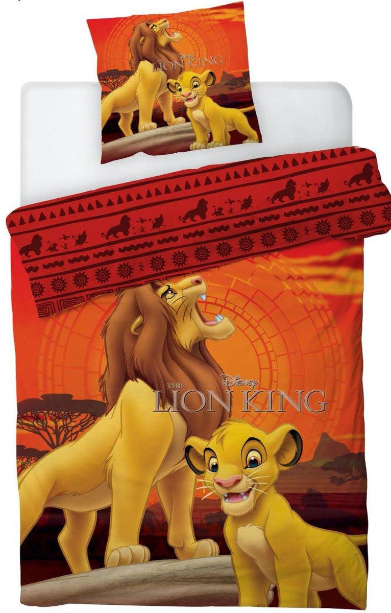 Disney The Lion King Dekbedovertrek - Eenpersoons - 140  x 200 cm - Oranje kopen