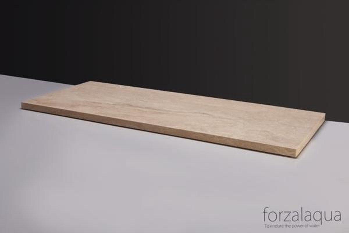 Forzalaqua Plateau Travertin Gezoet 160,5X51,5X3cm 1Xø72mm