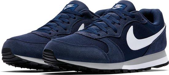 Nike Md Runner 2 Heren Sneakers - Midnight Navy/White-Wolf Grey - Maat 9