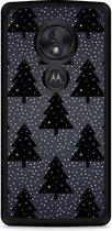 Motorola Moto G7 Play Hardcase hoesje Snowy Christmas Trees