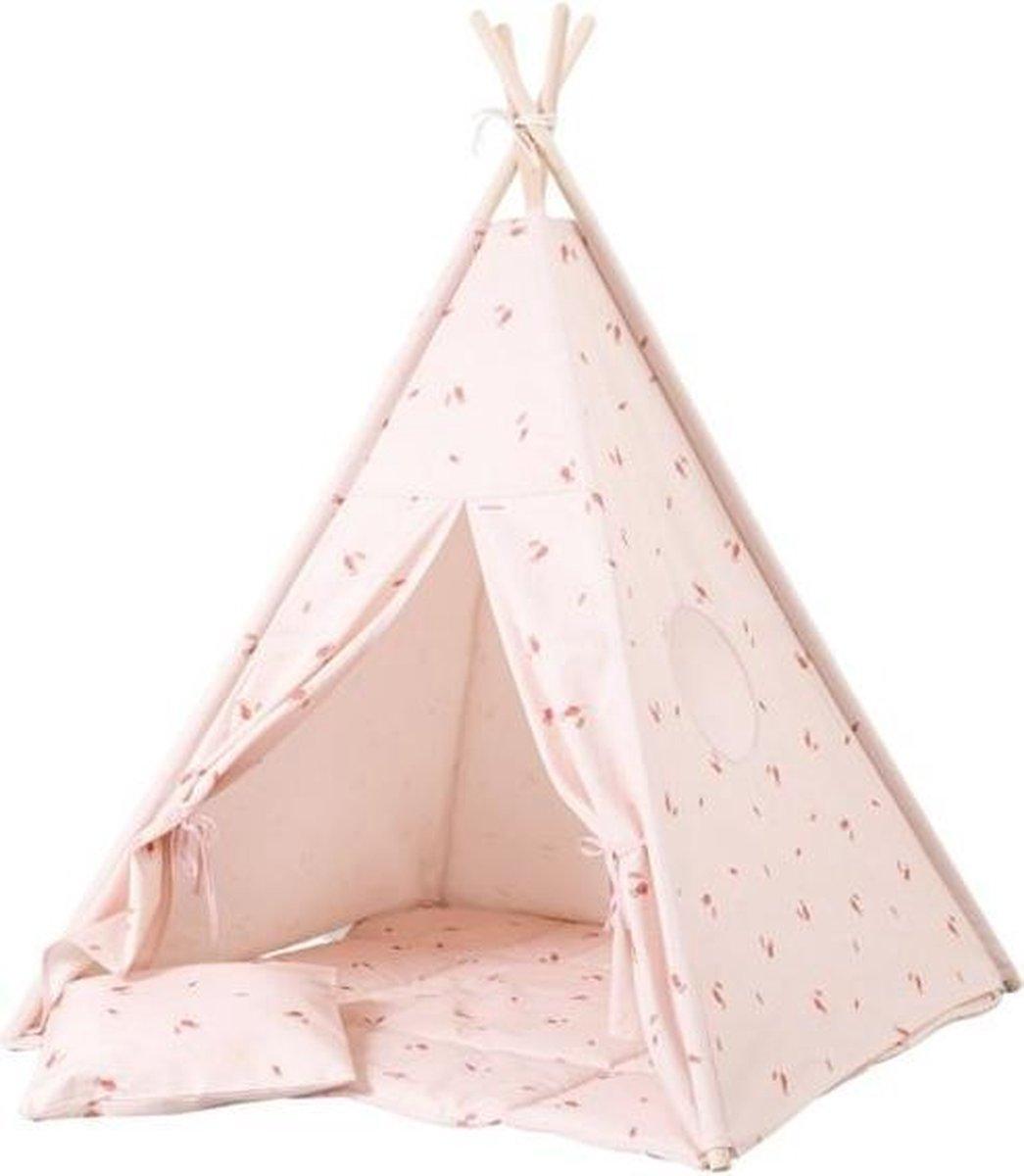 Tipi Tent / Speeltent Kinderkamer Misty Rose - Speeltent voor Kinderen - Kindertent - Indianentent - Wigwam 100x100x120cm