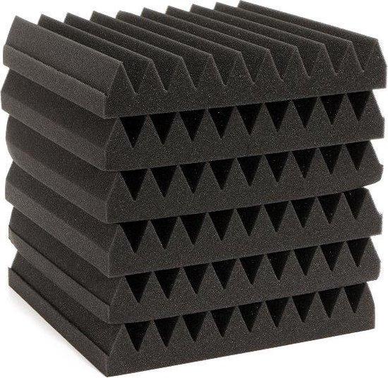 6st 30x30x5CM geluidsisolatie akoestische wedge schuimtegels wandpanelen
