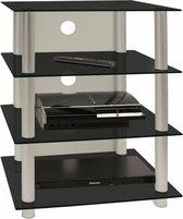VCM Blados - Tv-meubel - Zwart - Aluminium/Glas