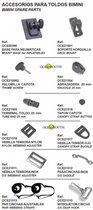 Bimini Reserve Onderdeel - Bevestigingsvoet voor Opblaasartikelen (OCE50390)