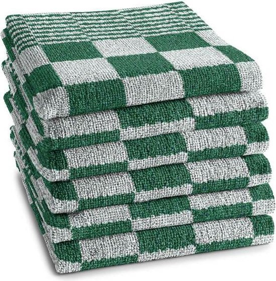 DDDDD Barbeque - Keukendoek - 50x55 cm - Set van 6 - Green