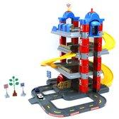 Afbeelding van Dolu Toy Factory New York Garage met 4 Etages/2 Die-Cast Autos/2 Verkeersborden/Boom speelgoed
