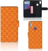 Xiaomi Redmi Note 7 Telefoon Hoesje Batik Orange