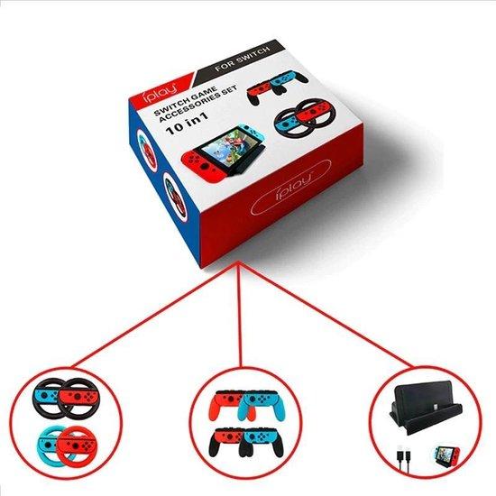 Nintendo Switch 10-in-1 accessoires pakket - Nintendo Consule Case - Hoes