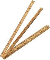 Schuil duimstok timmerman - palmhout -  1 mtr 4 delig