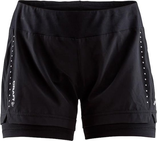 Craft Essential 2-In-1 Shorts W Sportbroek Dames - Black