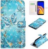 Samsung Galaxy S10E - Bookcase Blue Butterfly - portemonee hoesje