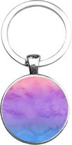Sleutelhanger Glas - Waterverf kleuren