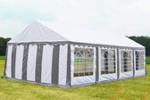 Party tent 8x5 Classic PVC Brandvertragend | Grijs / wit