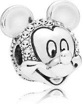 Zilveren Bedels Disney | Bedel Mickey | Glitter | 925 Sterling Zilver | Bedels Charms Beads | Past altijd op je Pandora armband | Direct snel leverbaar | Miss Charming