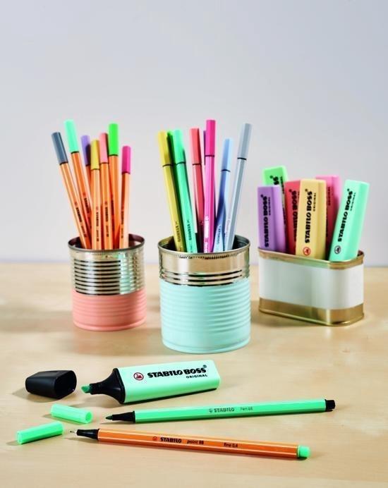 STABILO pen 68 - Viltstiften - etui - 8 stuks - pastelkleuren