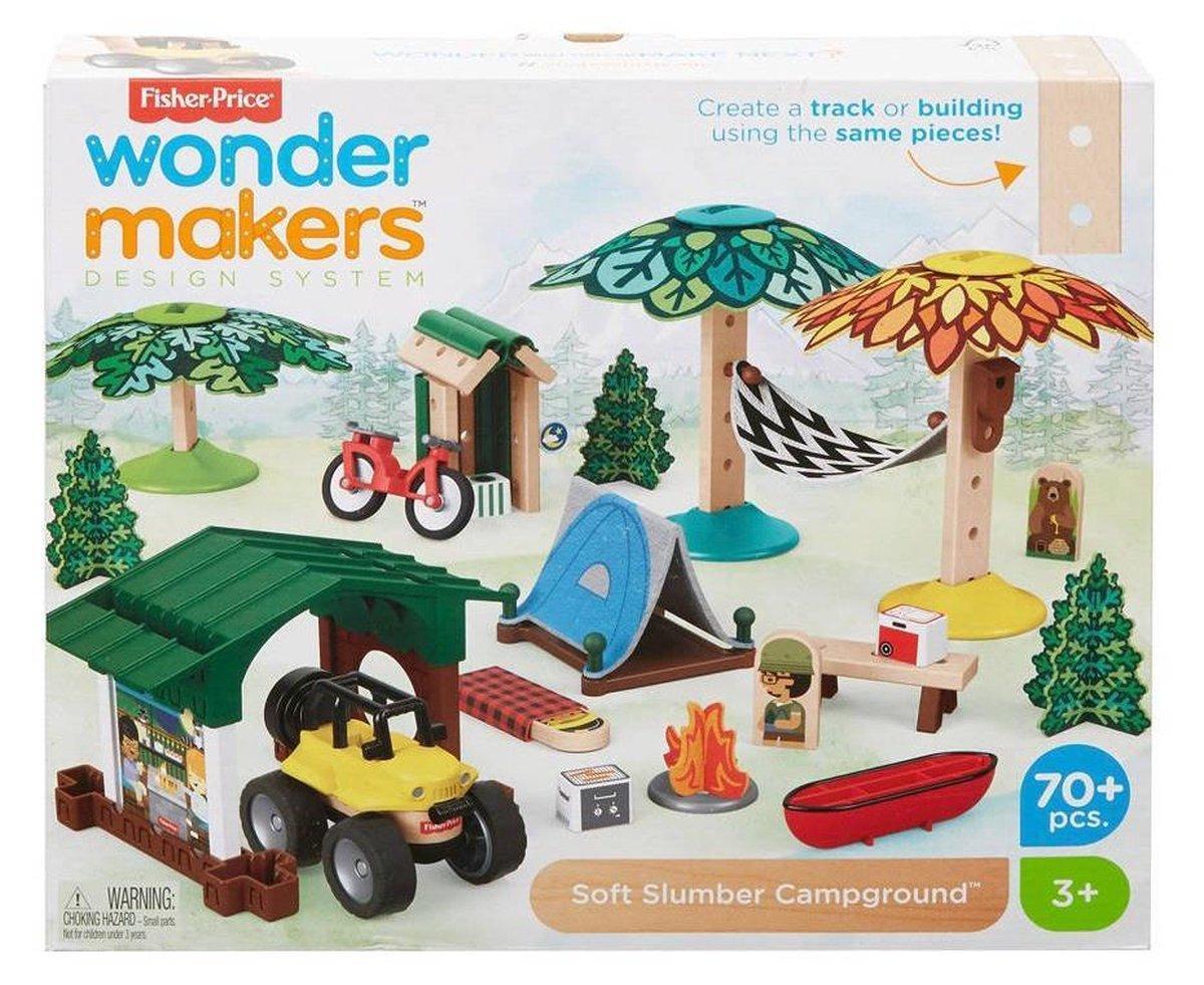 Fisher-price Bouwpakket Wonder Makers Camping Hout 70-delig prijzen vergelijken. Klik voor vergroting.
