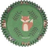 FunCakes Cupcake Vormpjes Muffin Vormpjes Papier Groen Forest Animals pk/48