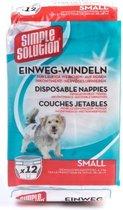 Simple Solution Wegwerp Honden Luier - SMALL 12 ST 38-48 CM