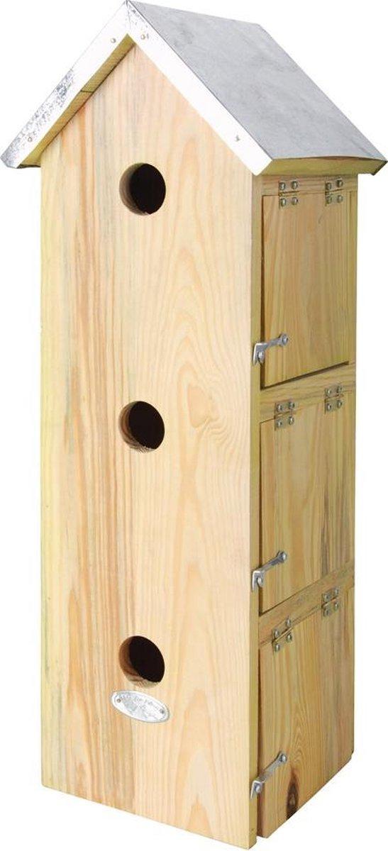 Esschert Design Vogelhuisje - Hout naturel - 19,5 x 16,5 x 51,5 cm