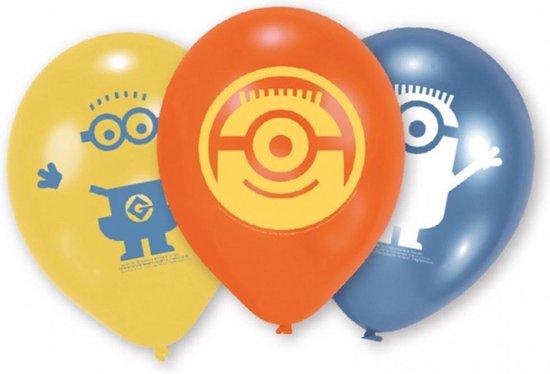 Ballonnen - Minion - blauw/geel/oranje - 6 stuks