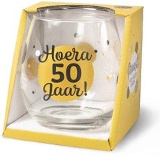 Wijn - Waterglas 50 jaar Proost!