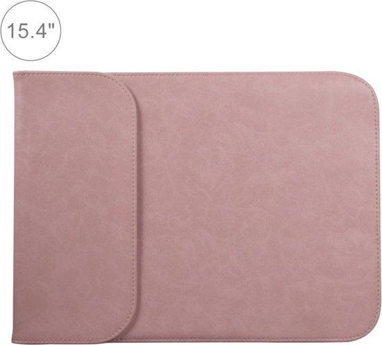 Let op type!! 15 4 inch PU + nylon laptop tas Case Sleeve notebook draagtas  voor MacBook  Samsung  Xiaomi  Lenovo  Sony  DELL  ASUS  HP (roze)