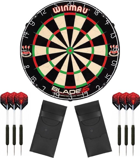 Winmau set - Blade 5 - dartbord - plus 2 sets - dartpijlen