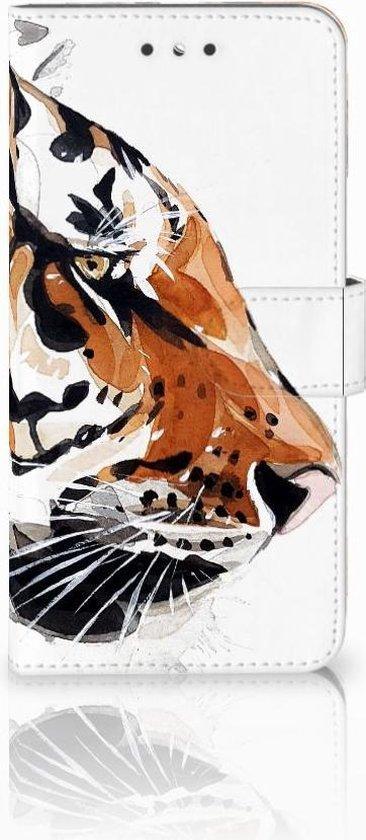 Smartphone Hoesje Nokia 6 Wallet Book Case Watercolor Tiger