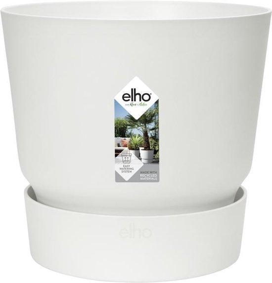 Elho Greenville Rond 25 - Bloempot - Wit - Buiten - Ø 24.48 x H 23.31 cm