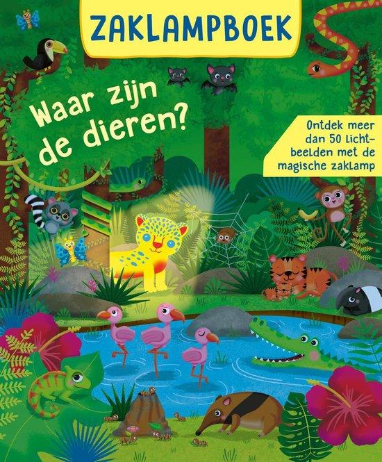 Boek cover Zoekboeken  -   Zaklampboek - Waar zijn de dieren? van Rachel Mclean (Hardcover)