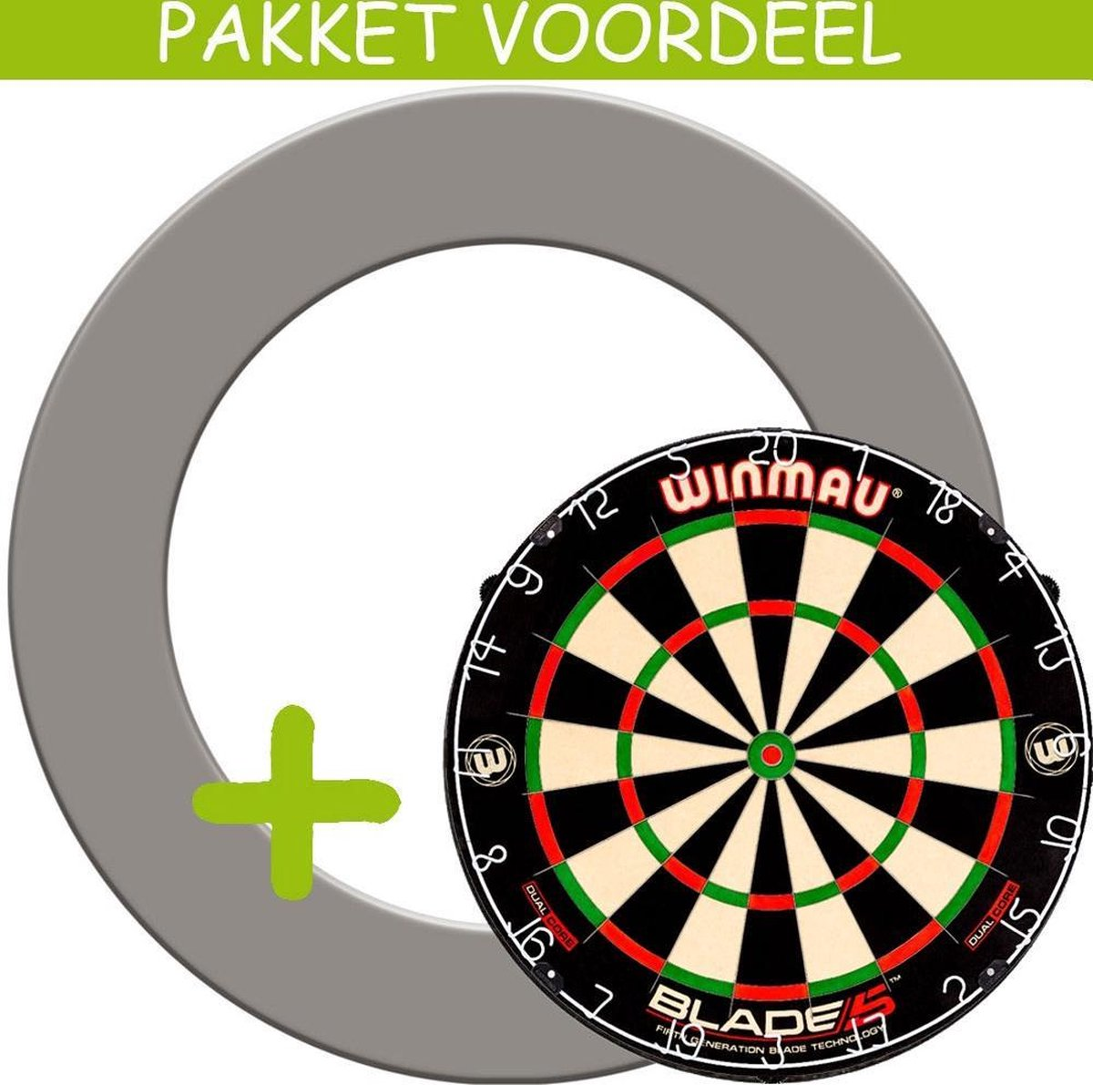 Dartbord Surround VoordeelPakket - Dual Core - Rubberen Surround-- (Grijs)