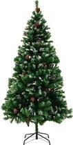 Casaria Kunstkerstboom - 180cm - met dennenappels en besneeuwde takken